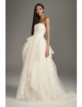 Stencil Sequin Petite Ball Gown Wedding Dress by White By Vera Wang