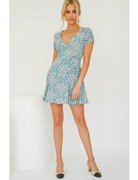 Holiday Edit Floral Mini Dress // Blue by Vergegirl