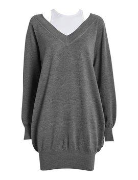 Bi Layer Wool Sweater Dress by Alexanderwang.T