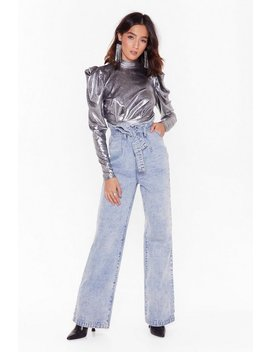 Totally Floored Wide Leg Acid Wash Jeans by Nasty Gal