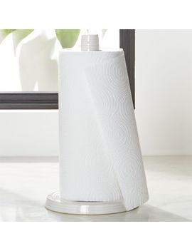 Farmhouse White Paper Towel Holder by Crate&Barrel
