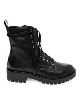 Combat Leather Boots by Steve Madden