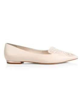 Butterfly Embellished Leather Flats by Sophia Webster