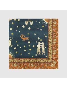 Silk Scarf With Zodiac Print by Gucci