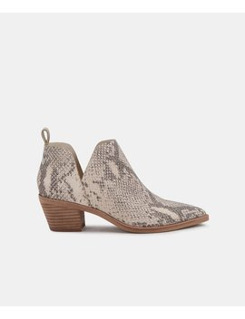 Sonni Booties In White/Black Snake Print Leathersonni Booties In White/Black Snake Print Leather by Dolce Vita