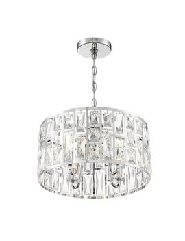 Kristella 4 Light Chrome Chandelier With Clear Crystal Shade by Home Decorators Collection
