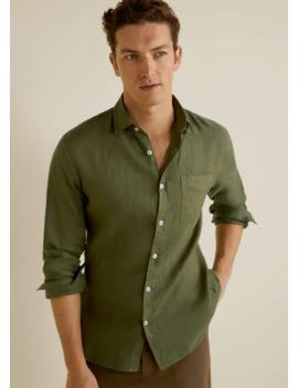 100% Linen Regular Fit Shirt by Mango