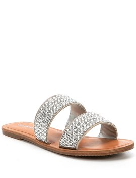 Stola Jeweled Banded Flat Sandals by Gianni Bini