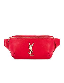 Classic Leather Monogramme Belt Bag by Saint Laurent