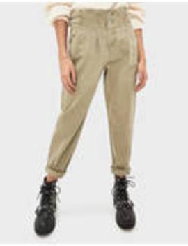 High Rise Pants With Belt Loops by Bershka