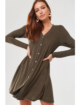 Button Down Sweater Dress by Forever 21
