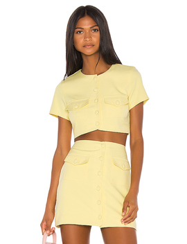 Gala Top In Citrus Yellow by Song Of Style