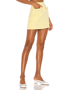Gala Mini Skirt In Citrus Yellow by Song Of Style