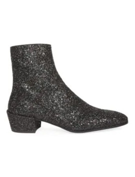 Caleb Glitter Ankle Boots by Saint Laurent