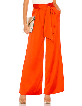 Euclid Pant In Fire Orange by Lovers + Friends