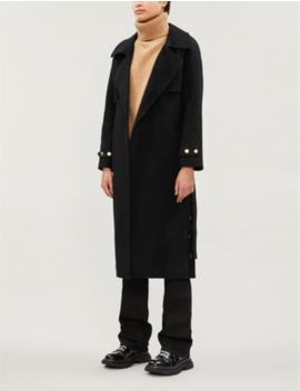 Belted Wool Blend Coat by Sandro