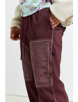 Uo Mixed Nylon Skinny Cargo Sweatpant by Urban Outfitters