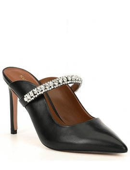 Duke Leather Jewel Strap Dress Mules by Kurt Geiger