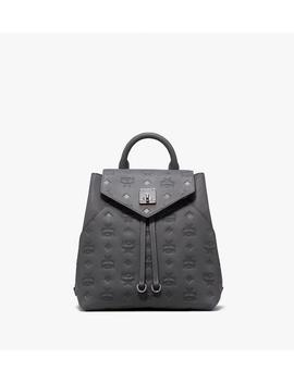 Essential Backpack In Monogram Leather by Mcm