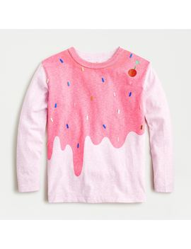 Girls' Long Sleeve T Shirt In Sundae by J.Crew