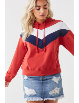 French Terry Chevron Hoodie by Forever 21