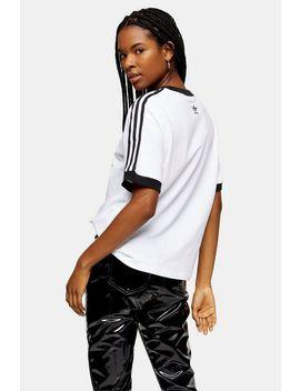 Adidas X Fiorucci Angel White Three Stripe T Shirt by Topshop