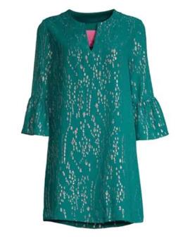 Elenora Metallic Silk Tunic Dress by Lilly Pulitzer
