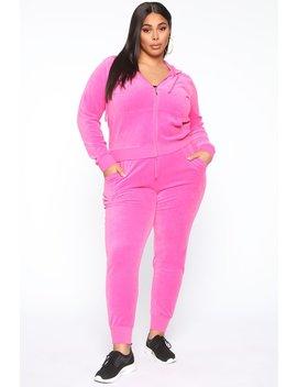 The Original Trendsetter Velour Set   Bubblegum Pink by Fashion Nova