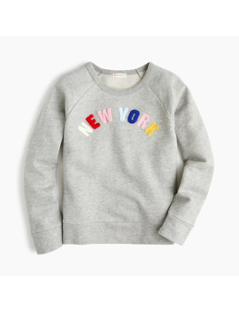 Kids' Colorful New York Sweatshirt by J.Crew