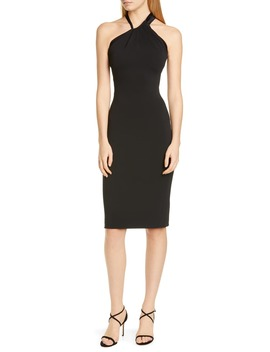 Asymmetrical Halter Body Con Dress by Cushnie