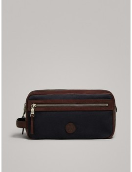 Madaba Leather Toiletry Bag by Massimo Dutti