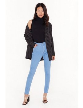 Recyled You Know We're Tight High Waisted Skinny Jeans by Nasty Gal