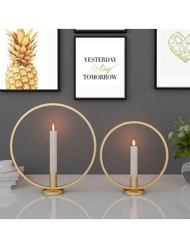 3 D Geometric Nordic Style Candle Holder Candlestick Metal Wall Home Decoration by Wish