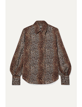 Didina Leopard Print Georgette Shirt by Equipment