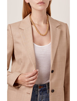 Chain Reaction 24 K Gold Plated Necklace by Brinker & Eliza