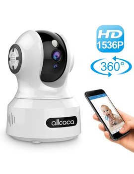 1536 P Hd Wi Fi Video Baby Monitor, Baby Monitoring System, Wi Fi Camera, Wireless Wi Fi Home Security Ip Camera With Two Way Audio, Night Vision, Cloud Storage by Allcaca