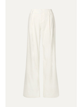 Eric Linen Blend Wide Leg Pants by Alice + Olivia
