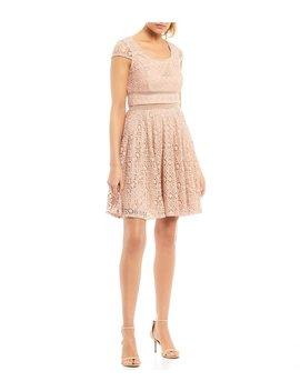 Cap Sleeve Lace Dress by Jodi Kristopher