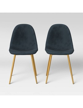 Copley Velvet Dining Chair With Brass Leg   Project 62™ by Shop Collections