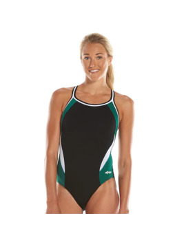 Women's Dolfin Team Colorblock Dbx Back Competitive One Piece Swimsuit by Dolfin