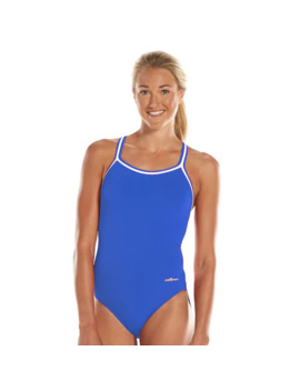 Women's Dolfin Team Solid Dbx Back Competitive One Piece Swimsuit by Dolfin