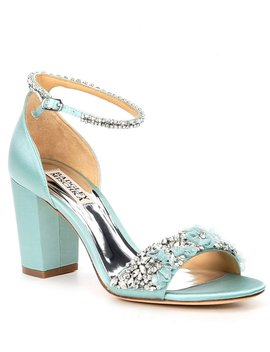 Finesse Satin Block Heel Dress Sandals by Badgley Mischka