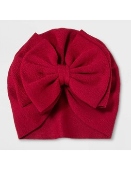 Baby Girls' Heather Kit Bow Turban   Cat & Jack™ Red by Cat & Jack