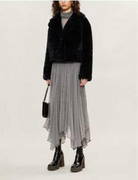 Janet Cropped Faux Fur Coat by Stand