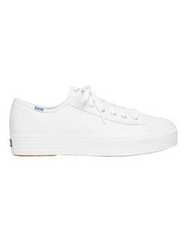 Triple Kick Leather Wh57310 White Sneaker by Keds
