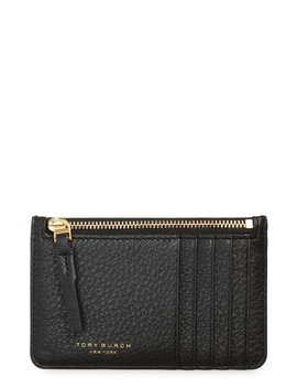 Perry Zip Leather Card Case by Tory Burch