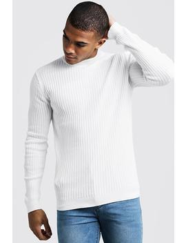 Long Sleeve Ribbed Turtle Neck by Boohoo