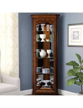 Kenric Lighted Corner Curio Cabinet by Astoria Grand