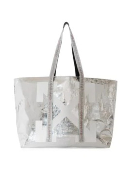 New Commercial Metallic Tote by Off White