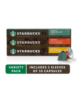 Starbucks® By Nespresso® Variety Pack Coffee 30 Count Capsules by Bed Bath And Beyond